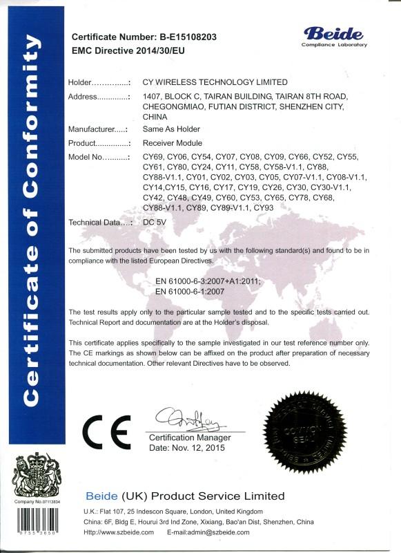 8203 EMC Certificate CY WIRELESS