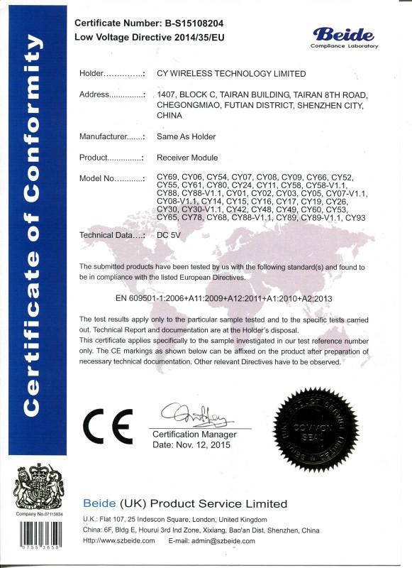 8204 LVD Certificate CY WIRELESS