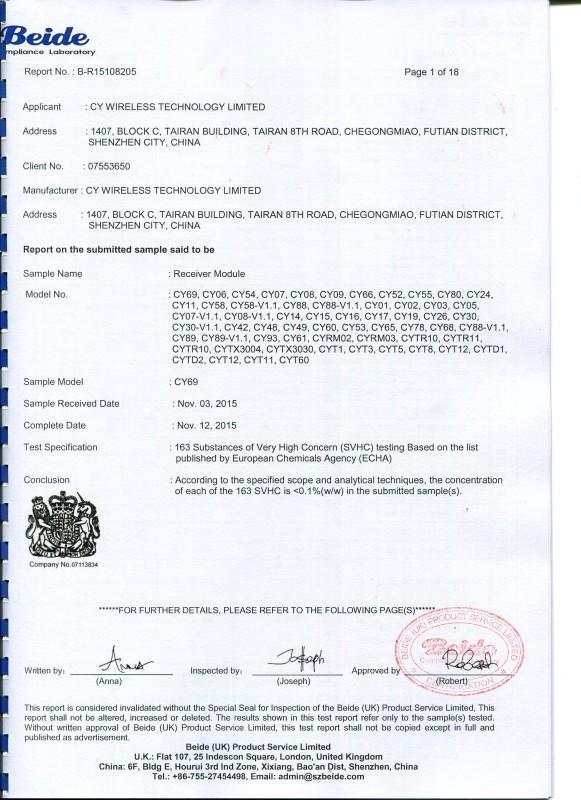 8205 Reach163 Report CY WIRELESS